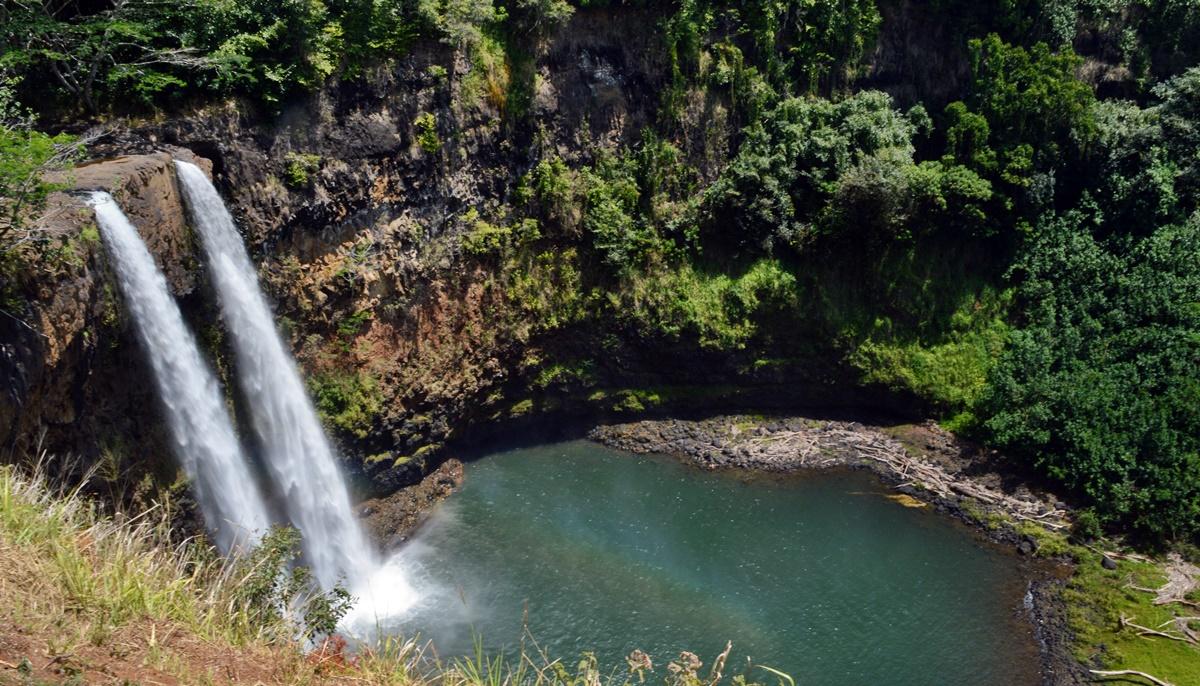 Wailua Falls on Kaua'i.