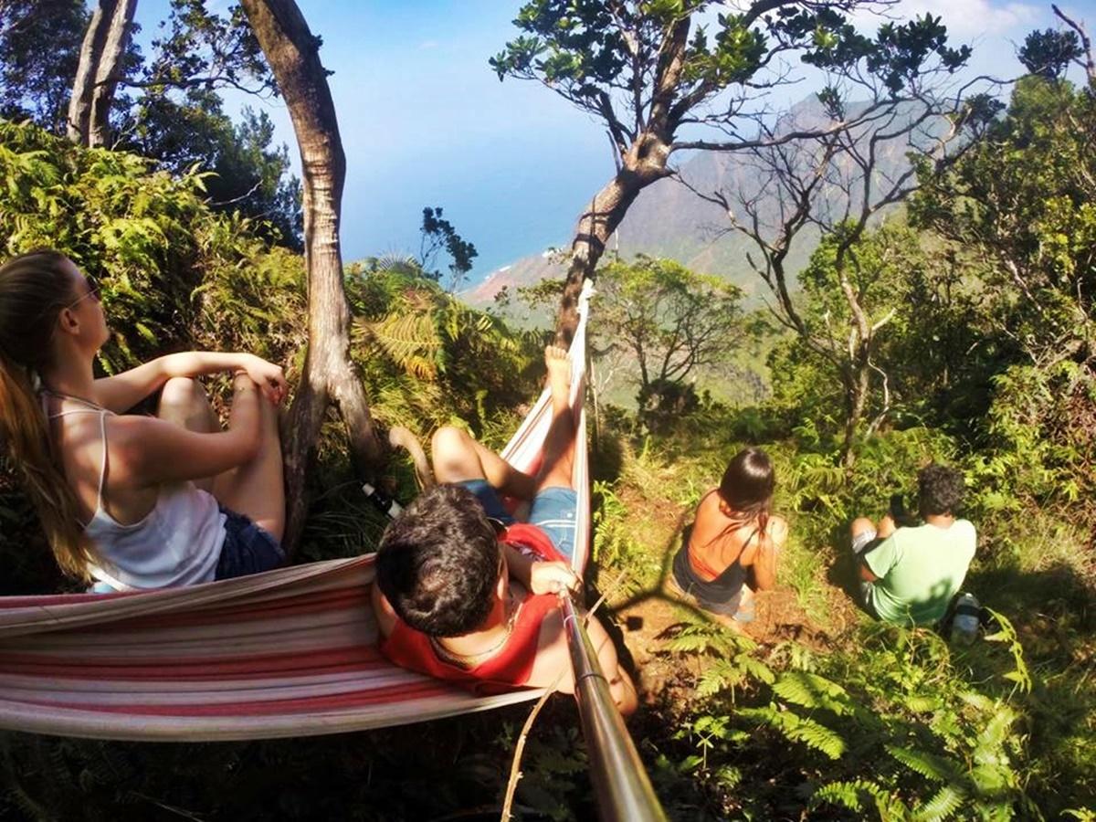 Hammock overlooking Na Pali Coast.