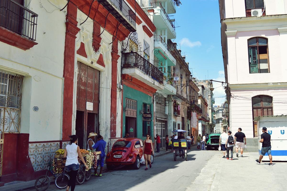 A street in Havana.